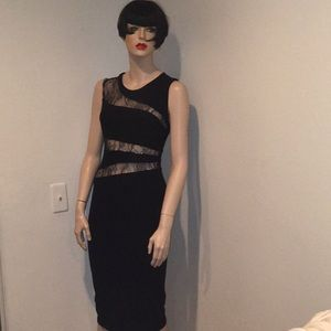 Abs black lace Aline dress sz s